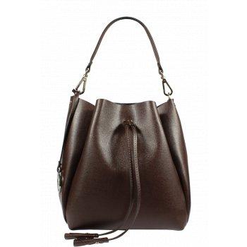 Krásna kožená kabelka v hnedej farbe Pierre Cardin 5314 Frenzy T.Moro