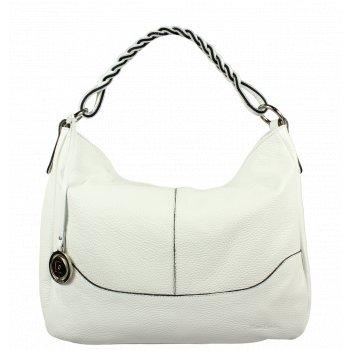 Biela kožená kabelka Pierre Cardin 5320 Dollaro Bianco
