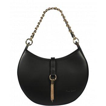 Pekná kožená kabelka Pierre Cardin 1547 Ruga Nero