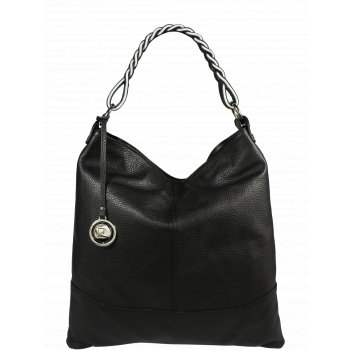 Krásna kožená kabelka Pierre Cardin 5318 Dollaro Nero