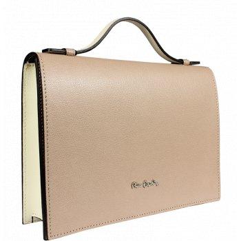Rozkošná kožená kabelka Pierre Cardin 1562 Melody Beige