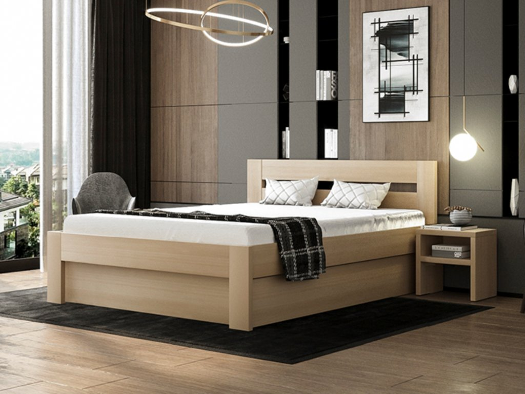 postel Destine buk s úložným prostorem