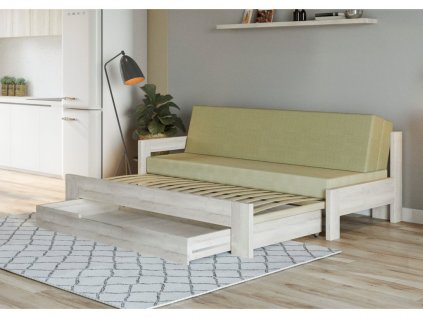 rozkládací postel područka vlevo