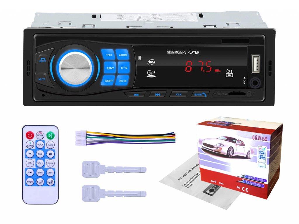 Autorádio 1 DIN USB MP3 SD USB Bluetooth