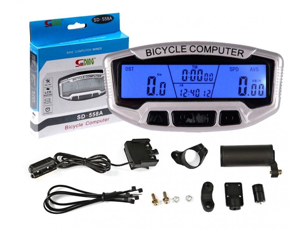 Vodotěsný cyklokomputer 28 funkcí