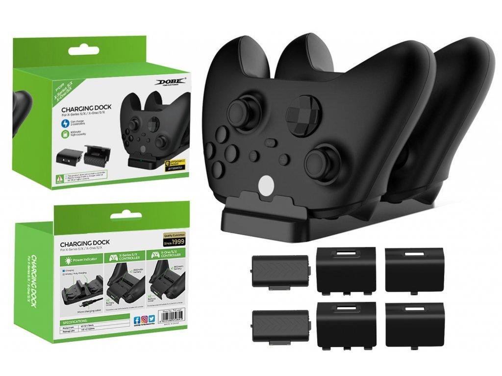 Duální dokovací stanice Dobe® pro ovládače Xbox Series X / S, Xbox One / S / X