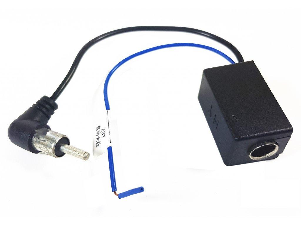 Zesilovač signálu automobilové antény s koncovkou DIN