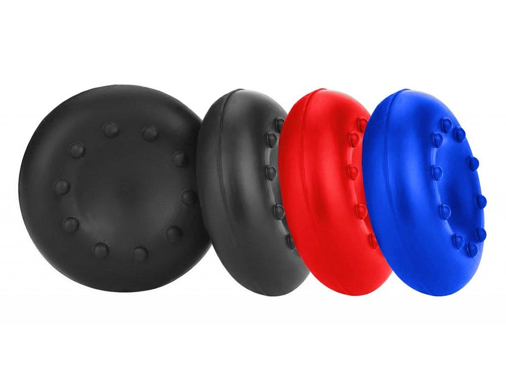 Čtyři kusy gumových krytek na joystiky ovladačů PS4 PS3 XBOX ONE 360 Nintendo