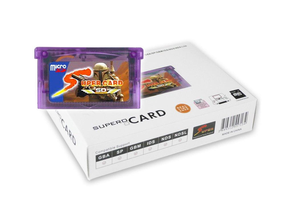 Herní adaptér Super Card MicroSD  Nintendo GBA, GBA SP, GB Micro, DS Lite