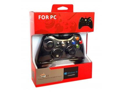 PC gamepad pad jako ovladač XBOX360 v designu konzole USB dual shock