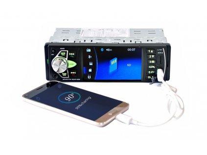 """Autorádio 1 DIN se 4,1"""" displejem s USB MP3 SD + parkovací kamera"""