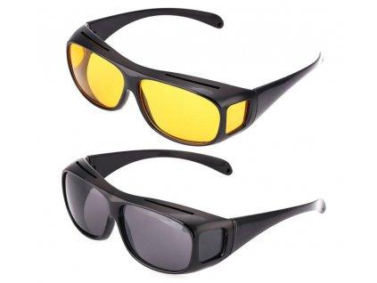 HD Vision brýle pro jízdu žlutá skla