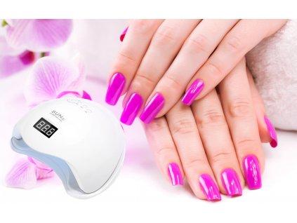 LED UV lampa na nehty 24 LED 48W