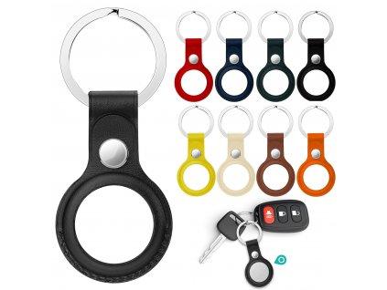 Přívěsek na klíče kožené pro vyhledávač Apple Airtag
