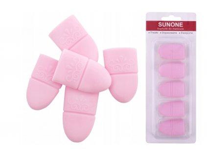 Sunone silikónové návleky k odstranění hybridního laku, akrylu a gelu