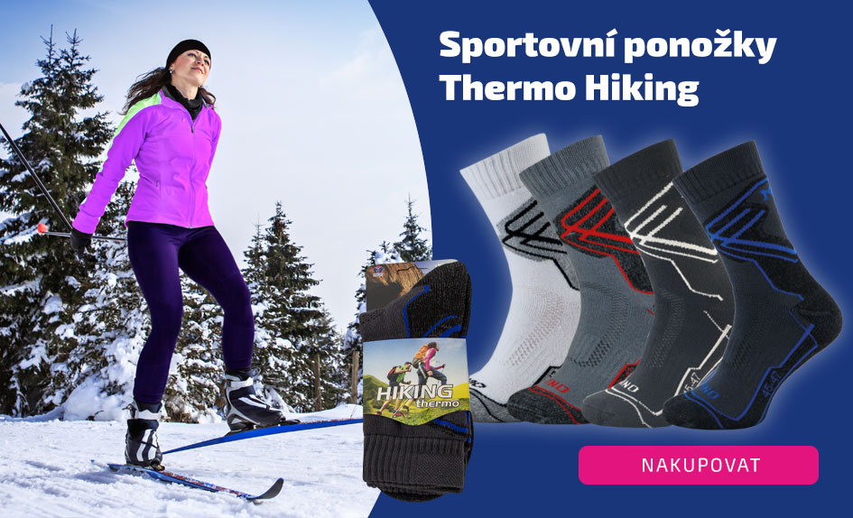 Ponožky zimní sportovní Thermo Hiking