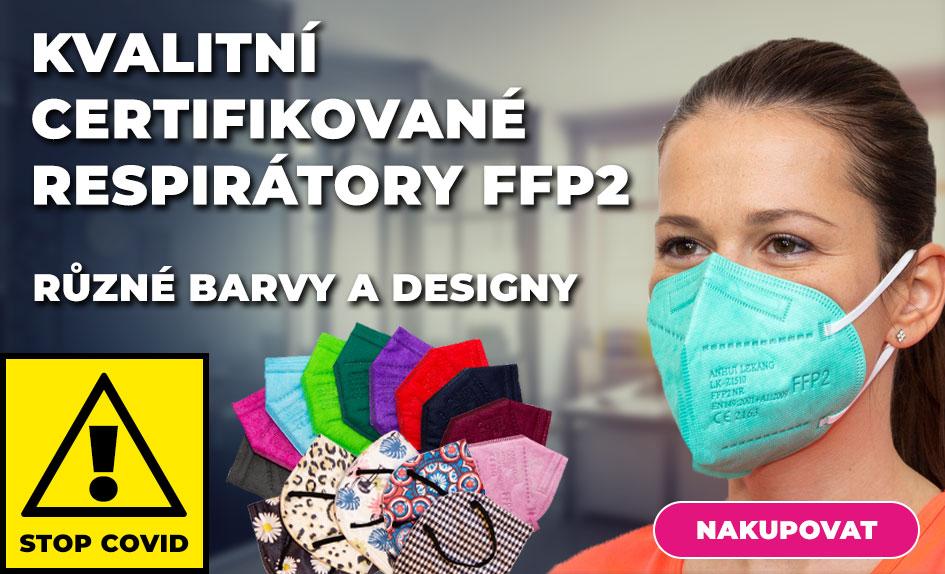 Respirátory FFP2 s designem