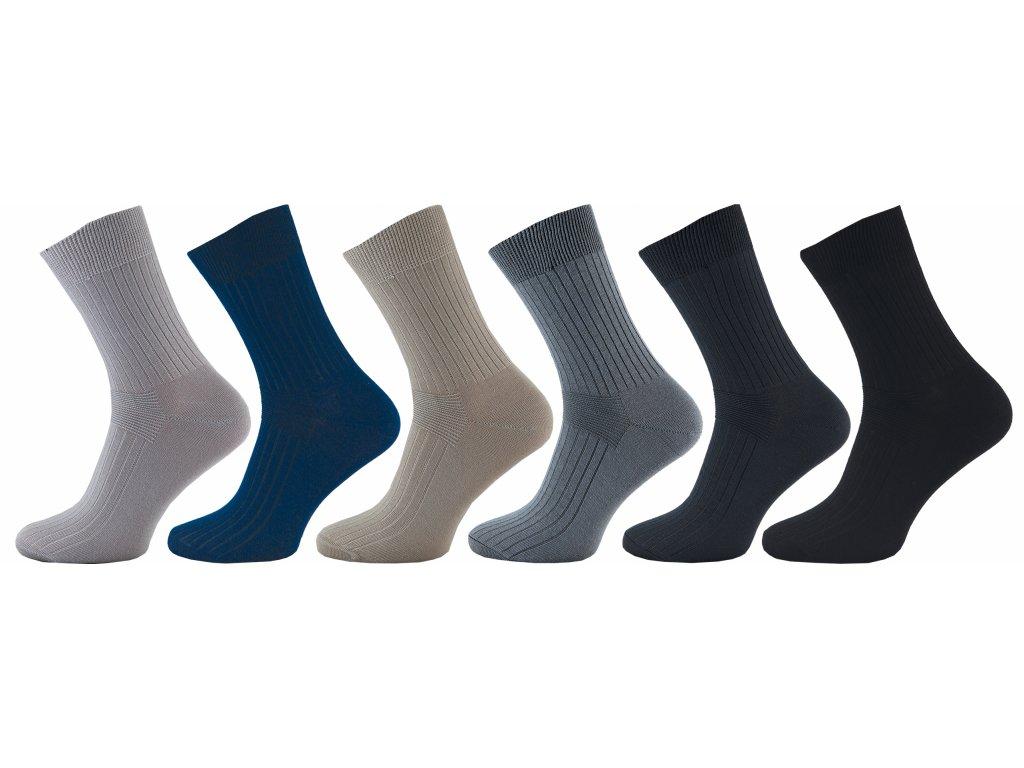 Pánské ponožky LUX žebro - balení 5 párů - NOVINKA