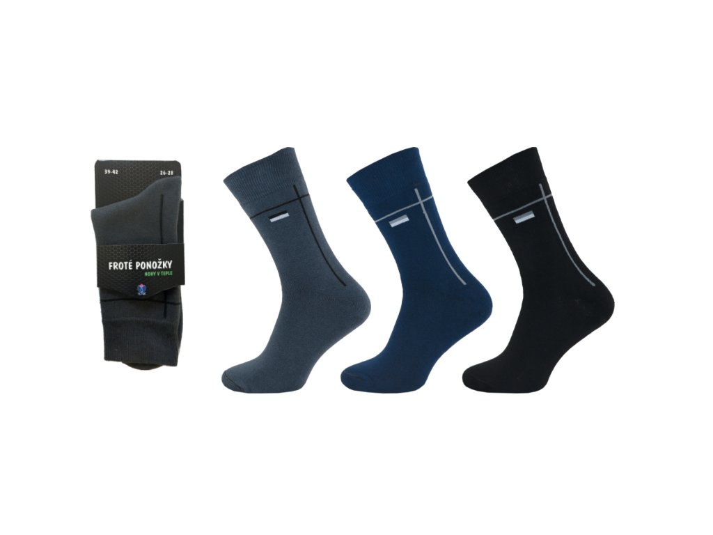 Pánské ponožky froté vzor