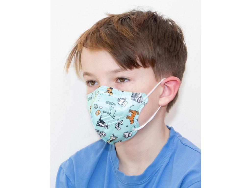 Respirátor FFP2 - dětský - vzor DH