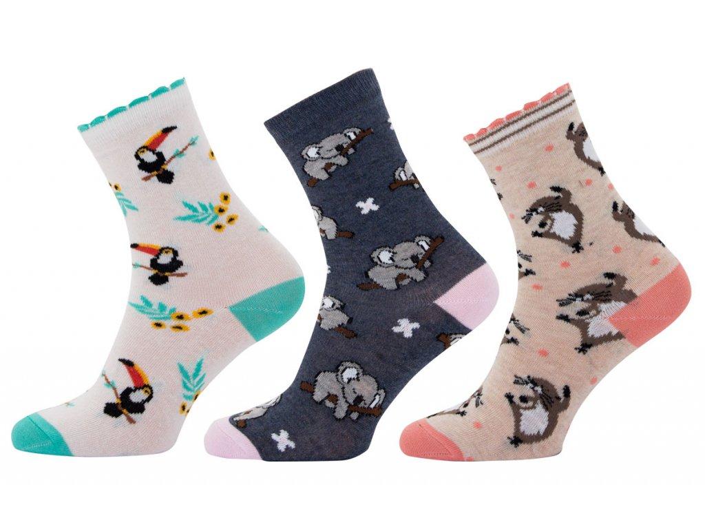 Dámské ponožky zvířátka