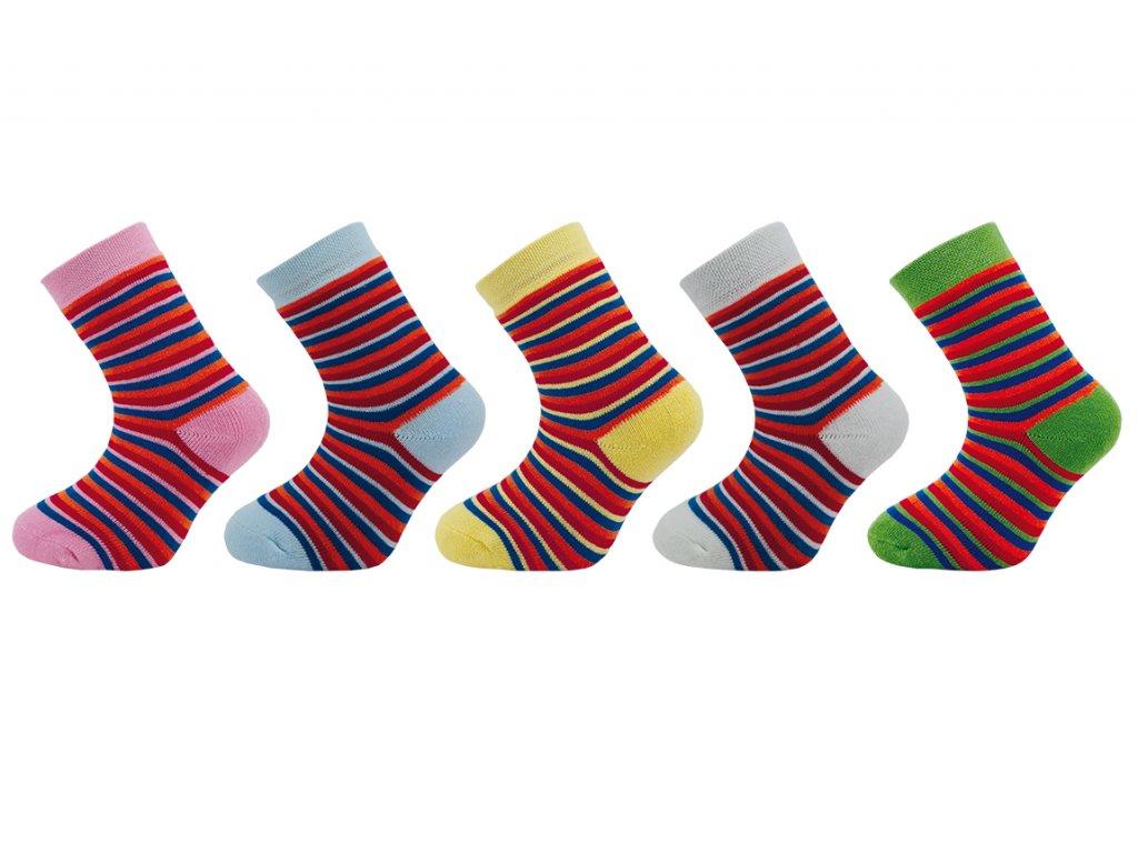Dětské ponožky froté N 305 - balení 5 párů
