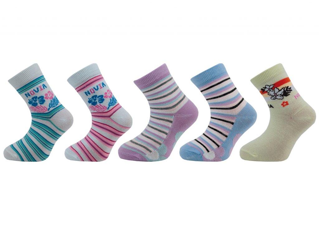 Dětské ponožky vzor - balení 5 párů
