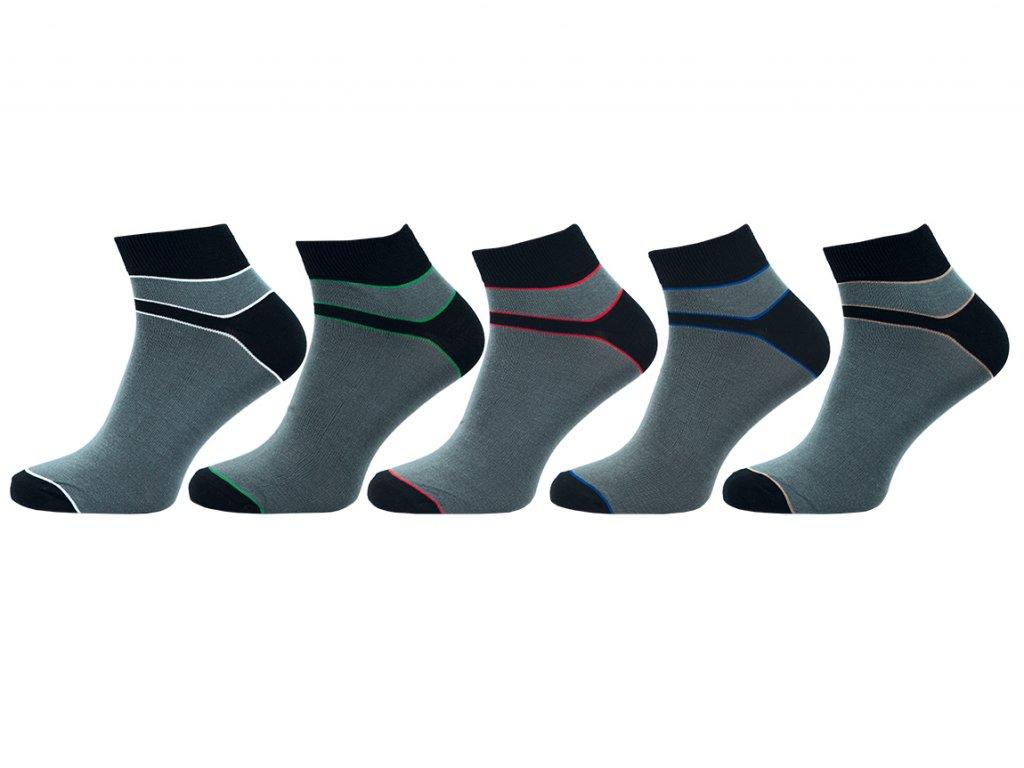 Pánské ponožky bambus vyšší lem - balení 5 párů