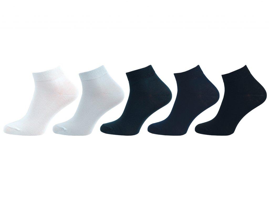 Ponožky bambus vyšší lem - balení 5 párů