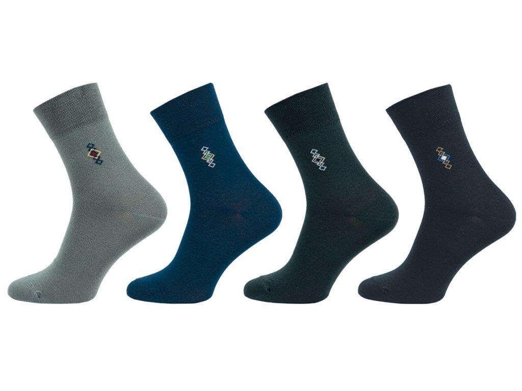 Ponožky Comfort se stříbrem - balení 5 párů