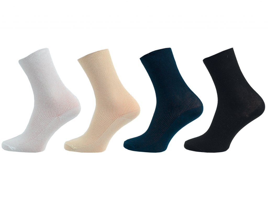 Dámské ponožky Medic – 100% bavlna - balení 5 párů