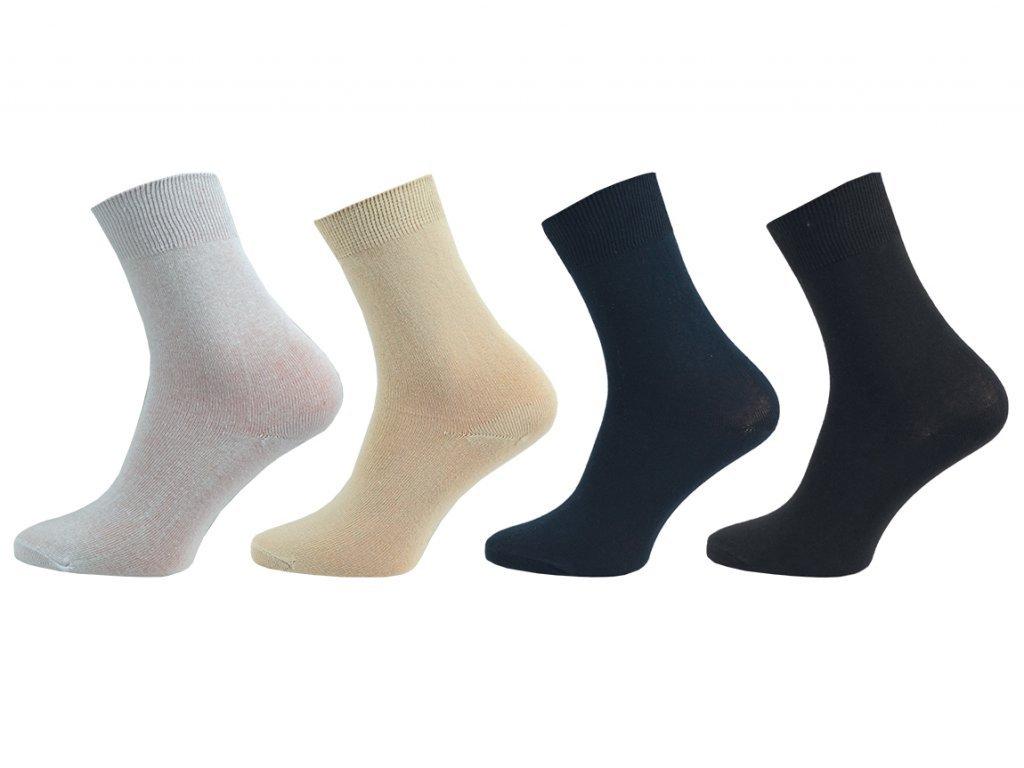 Dámské ponožky Klasik – 100% bavlna - balení 5 párů