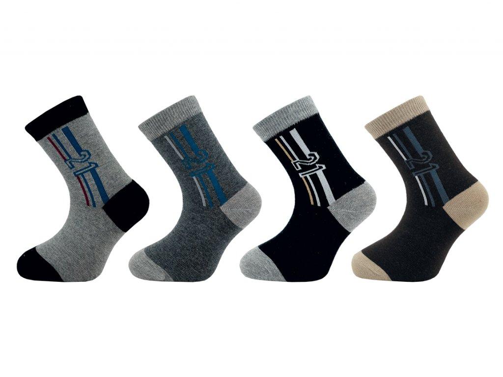 Dětské ponožky vzor 136N - balení 5 párů