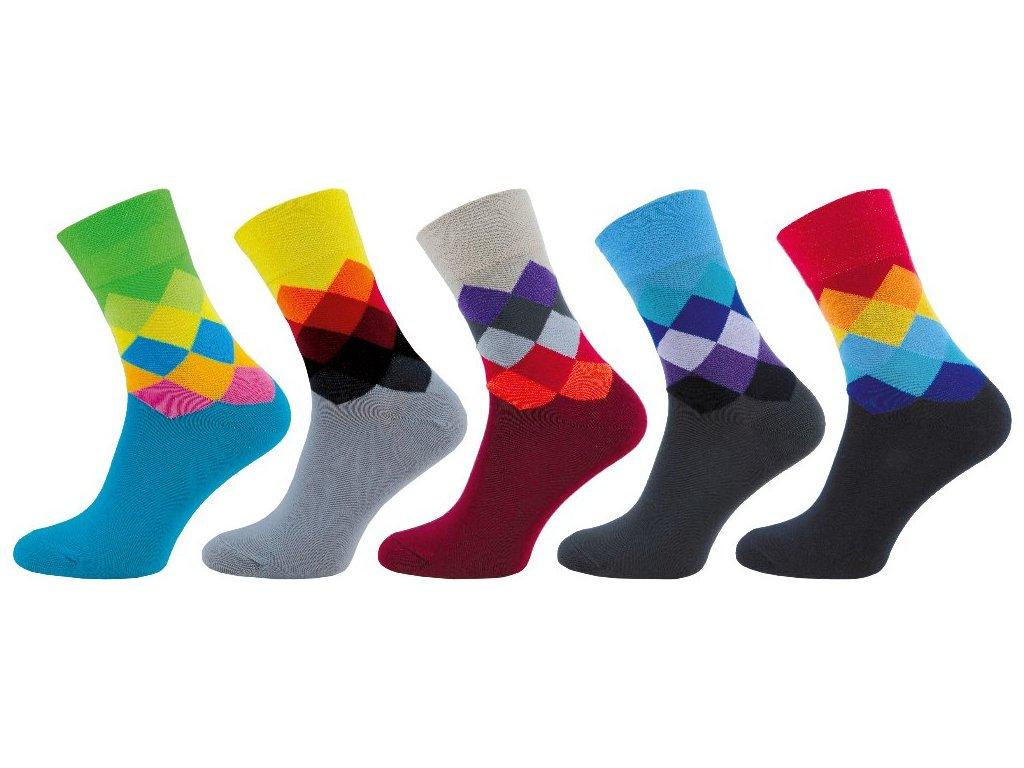 Ponožky Happy Socks káro - NOVINKA