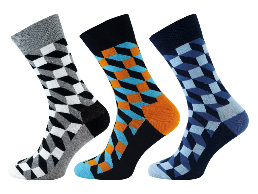Ponožky Happy Socks vzor (Velikost 30-32)