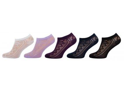 Dámské ponožky krajkové kotníkové