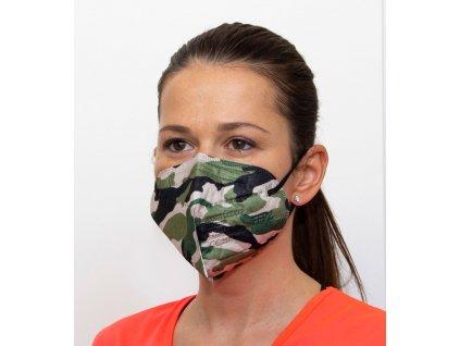 Respirátor FFP2 - maskáčový - zelený