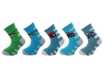 Dětské ponožky SILVERTEX THERMO vzor4 - balení 5 párů