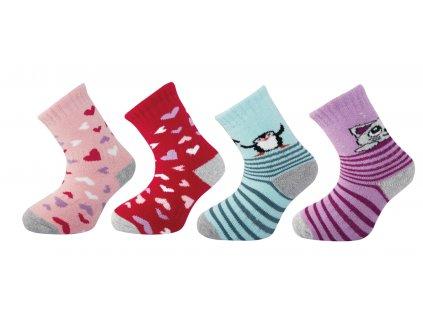 Dětské ponožky SILVERTEX THERMO vzor5 - balení 5 párů