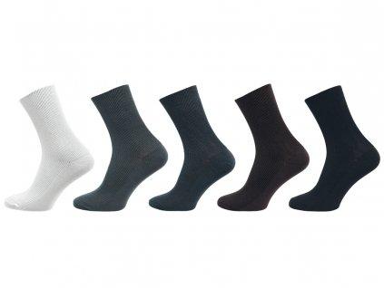 Zdravotní ponožky se stříbrem - balení 5 párů