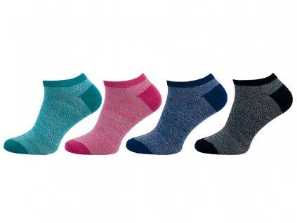 Dámské kotníkové ponožky 407N - balení 4páry