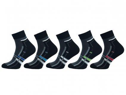 Ponožky vyšší lem - balení 5 párů