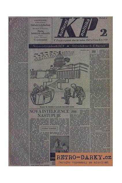 930 noviny z data narozeni kulturni politika 1945 1949