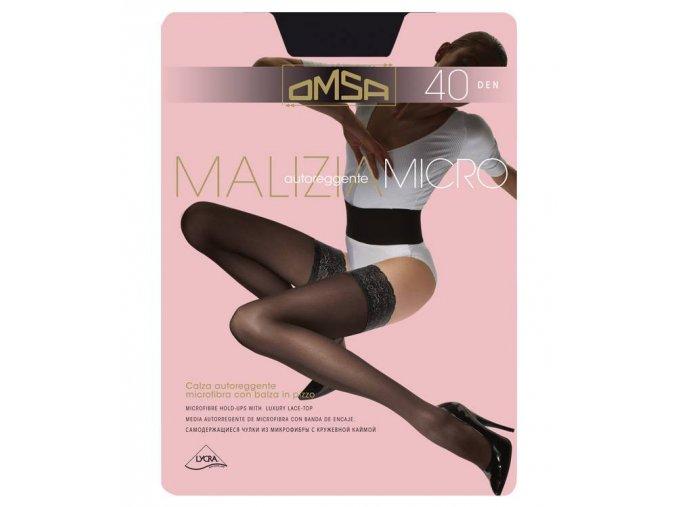 MALIZIA 40 MICRO samodržící punčochy 528