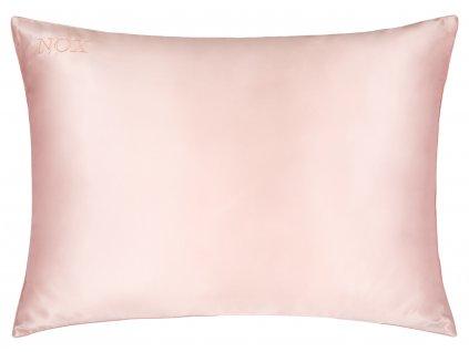 Hedvábný povlak na polštář 100% pudrově růžová| noxsilk.cz