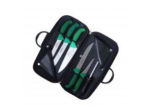 Kabela s řeznickými noži Frosthard (zelená)
