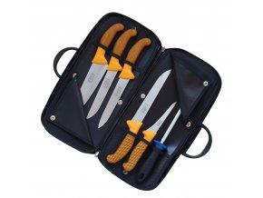 Kabela s řeznickými noži Profi Line (žlutá)