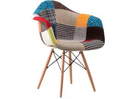 Jedálenská stolička Wave Patchwork Sindy