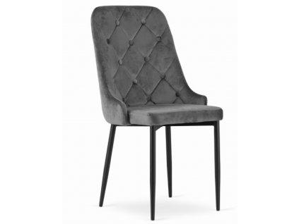 Zamatová stolička Dublin sivá