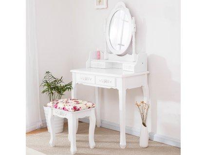 Toaletný stolík Barocco Rose + DARČEK LED make up zrkadlo
